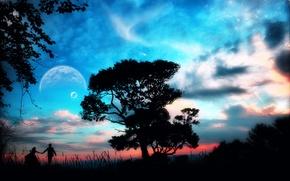 Картинка Дерево, Планета, Пара, Идем Со Мной, Come Away With Me, Фантастический Мир