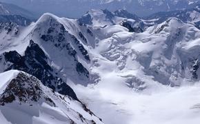 Обои снег, горы, скалы