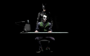 Обои Joker, Batman, Темный рыцарь, The Dark Knight