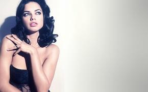 Картинка взгляд, девушка, фон, модель, Адриана Лима, Adriana Lima