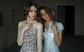 Картинка две девушки, подруги, Two, Георгий Чернядьев, Ксения Кокорева, Ola Pushkina