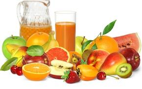 Картинка ягоды, сок, фрукты