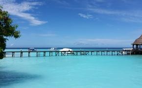 Картинка тропики, океан, остров, Maldives