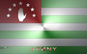 Картинка Флаг абхазии, абхазия, Флаг