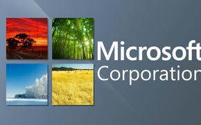 Картинка окна, логотип, Microsoft, Corporation