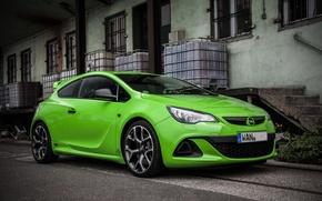 Картинка Opel, Green, Astra, Opc