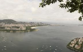 Картинка панорама, Бразилия, panorama, Brasil, Rio, Рио-де-жанейро