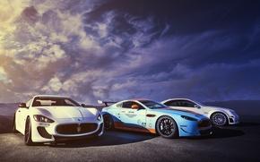 Картинка Aston Martin, Maserati, Mercedes-Benz, DBS, GranTurismo, MC Stradale
