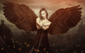 Картинка Ангел, Girl, Dark Angel, Фантастика