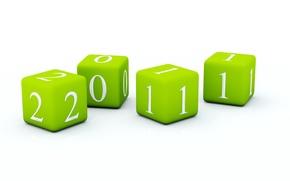 Обои кубы, цифры, 2011