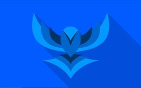 Картинка птица, крылья, вектор, bird, blue, flat