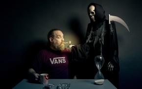 Обои смерть, сигарета, человек