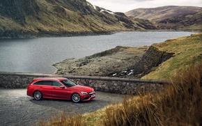 Картинка Mercedes, мерседес, AMG, амг, C 63, UK-spec, Estate, 2015, S205