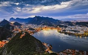 Обои Рио-де-Жанейро, гуанабара, Бразилия, город, бухта