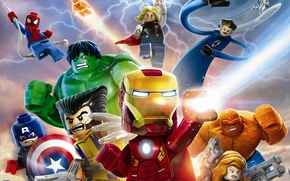 Картинка игрушки, Существо, Лего, Росомаха, IRON MAN, Железный человек, Wolverine, Капитан Америка, Captain America, супергерои, Тор, …