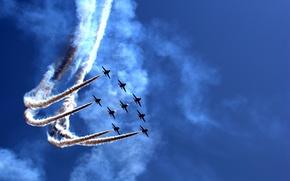 Обои шоу, праздник, Airily show, воздушное, parade, самолёты, парад
