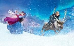 Картинка Frozen, Anna, Walt Disney, Wide, Animation Studios, Kristoff