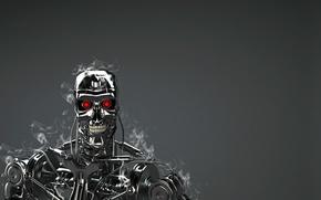 Картинка robot, red eyes, Terminator, T-800, technology