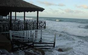 Картинка beach, sea, ocean, landscape, nature, stone, water