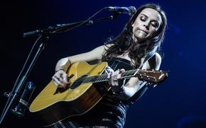 Картинка гитара, музыкант, Amy Macdonald, вокал, соло исполнитель