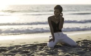 Картинка песок, море, пляж, Natasha Domonique