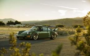 Картинка car, green, tuning, carrera, porsche 911, rauh-welt