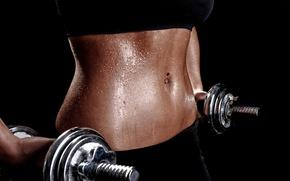 Обои metal, perspiration, gym, dumbbells, pircing