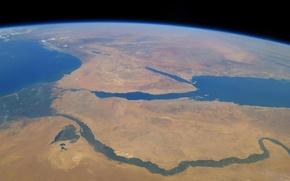 Картинка река, Земля, Африка, Красное море, Синайский полуостров, Нил, Средиземное море