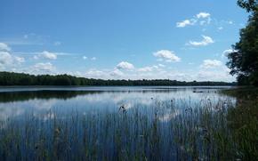 Картинка озеро, деревня, Беларусь