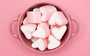 Обои конфеты, чашка, Pink cubed