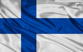 Обои флаг, Финляндия, finland