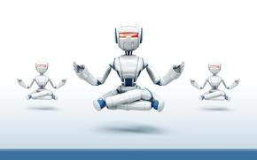 Обои минимализм, Роботы, медитация
