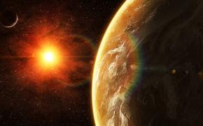 Картинка star, sun, planet