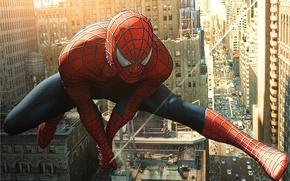 Картинка человек-паук, спайдермен, spider-man, прыжок, фильм
