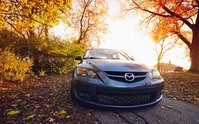 Картинка Mazda, black, front, мазда, 3 speed