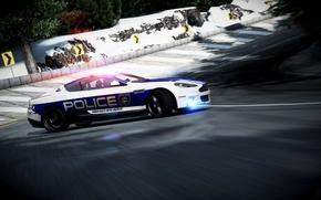 Картинка Aston Martin, Зима, DBS, Скорость, Полиция, Занос, Великобритания, Police, Photoshop, Астон Мартин, Forza 4, Стробоскопы