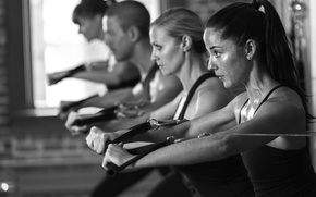 Картинка fitness, white and black, exercise classes