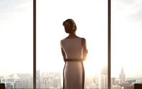Картинка стекло, женщина, Девушка, окно
