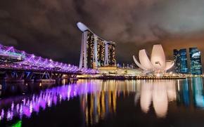 Обои Сингапур, ночь, город, отель