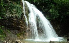 Картинка лес, свежесть, водопад, Крым, waterfall, Джур-Джур, Crimea