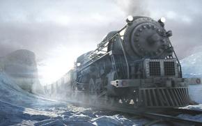 Обои siberia, сибирь, игра, зима, поезд