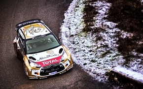 Обои Зима, Дорога, Спорт, Машина, Скорость, Ситроен, Citroen, DS3, WRC, Rally, Ралли, Холод