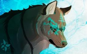 Картинка волк, арт, зверь
