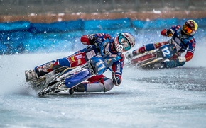 Картинка sport, bike, race, Ice Speedway