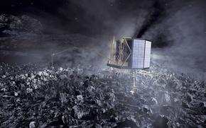Картинка Комета, стыковка, зонд, Розетта, Rosetta