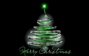 Картинка ёлка, гирлянда, поздравление, merry christmas