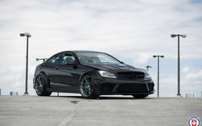 Картинка Mercedes, AMG, Black, Series, C63, HRE