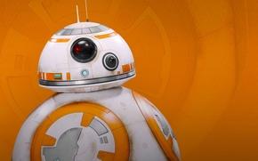 Картинка Робот, Star Wars: The Force Awakens, Звёздные войны: Пробуждение силы, BB 8