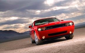 Картинка авто, красный, Dodge, Challenger