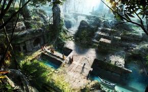 Обои храм, фентези, ритуал